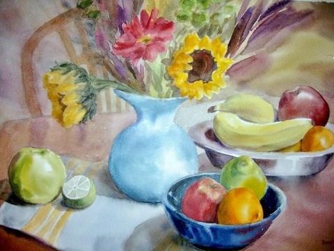 """""""Sunflower"""" original fine art by Priscilla Bohlen"""