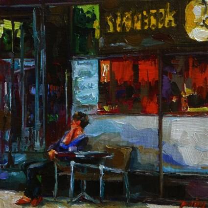 """at the bakery"" original fine art by Jurij Frey"