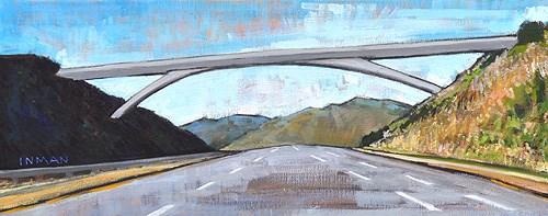 """Rainbow Bridge"" original fine art by Kevin Inman"