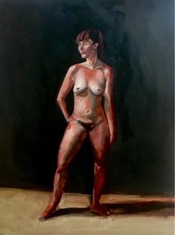 """Live Figure Painting I"" original fine art by Piya Samant"