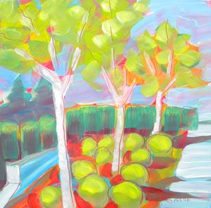 """""""Campus Garden 2"""" original fine art by Pam Van Londen"""