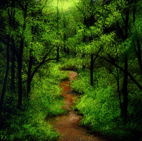 """Mountain Path"" original fine art by Bob Kimball"