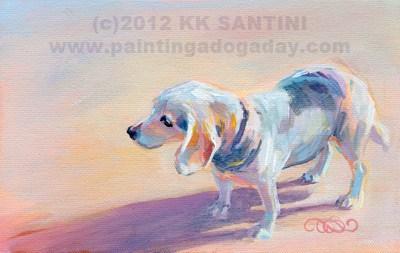"""Twilight, A Painted Sketch ~~ Kimberly Kelly Santini"" original fine art by Kimberly Santini"