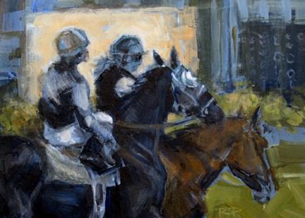 """""""First Race"""" original fine art by Robin Peterson"""