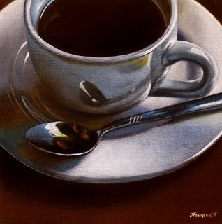 """Black Coffee On A Cloudy Morning"" original fine art by Jelaine Faunce"