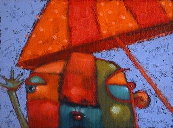 """""""Blue Skies Ahead"""" original fine art by Brenda York"""