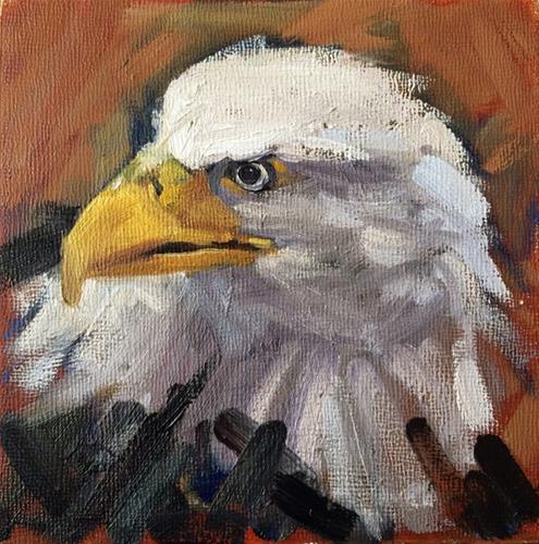 """Who's Bald?"" original fine art by Deborah Newman"