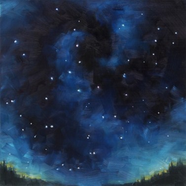 """Oil Painting of a Nearly Empty Spot Near Ursa Major"" original fine art by Deb Anderson"