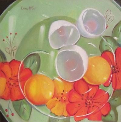 """""""Yolko Oh No, Oil Painting by Linda McCoy"""" original fine art by Linda McCoy"""