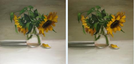 """Tangled sunflower painting still life floral"" original fine art by Diane Hoeptner"