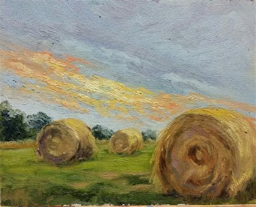 """""""Sunrise sliver-en plein air"""" original fine art by Veronica Brown"""