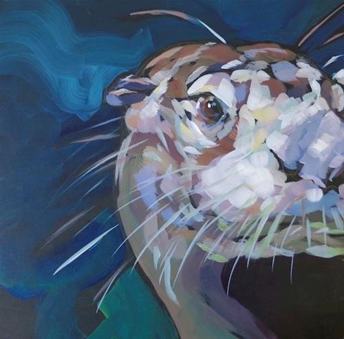 """Dapple Cheek"" original fine art by Kat Corrigan"