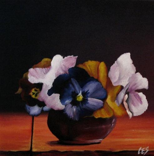 """Pansy Bouquet"" original fine art by ~ces~ Christine E. S. Code"