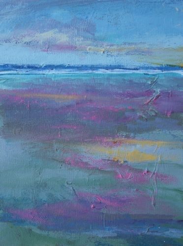 """""""Afternoon Reflections, Beach and Ocean Paintings by Arizona Artist Amy Whitehouse"""" original fine art by Amy Whitehouse"""