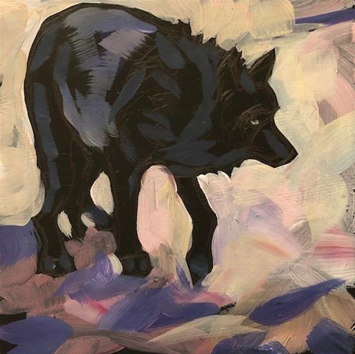 """Wolf Wary"" original fine art by Kat Corrigan"