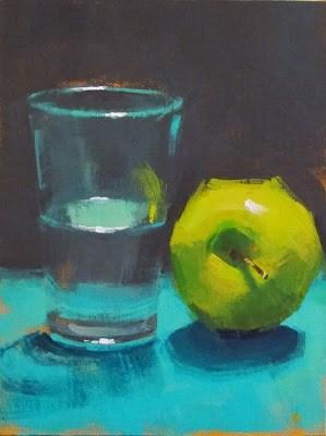 """GLASS HALF FULL"" original fine art by Helen Cooper"