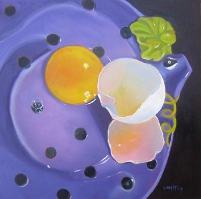 """Fry Me to the Moon, Oil Painting by Linda McCoy"" original fine art by Linda McCoy"