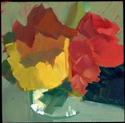 """2566 weeds"" original fine art by Lisa Daria"