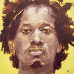 """""""FACE-IT.   #15"""" original fine art by Helen Cooper"""