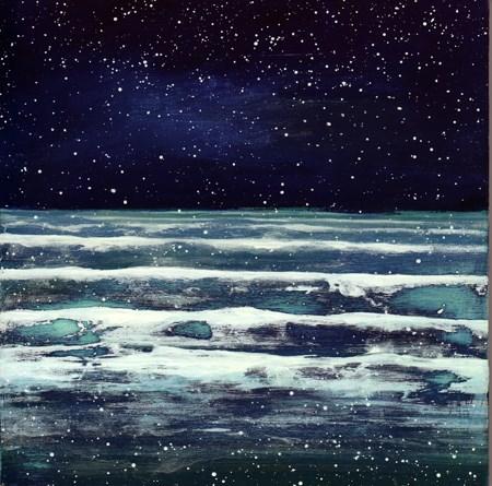 """Ocean Meditation #5"" original fine art by Anne Ducrot"