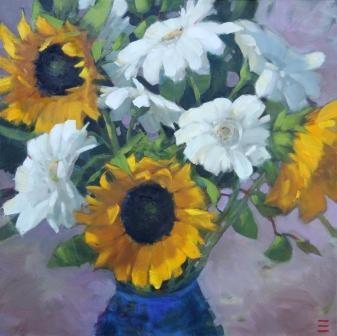 """Sunshine Dance"" original fine art by Krista Eaton"