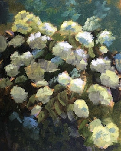 """""""Rhododendrons"""" original fine art by Pam Holnback"""