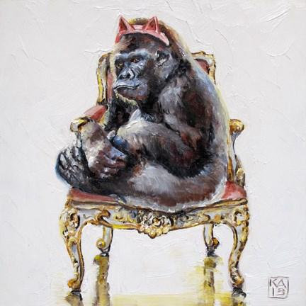 """meow"" original fine art by Kimberly Applegate"