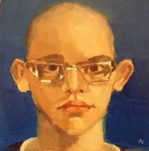 """""""FACE-IT.  #4"""" original fine art by Helen Cooper"""