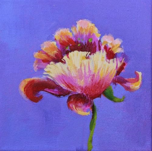 """""""Flower, Contemporary Floral Paintings by Arizona Artist Amy Whitehouse"""" original fine art by Amy Whitehouse"""