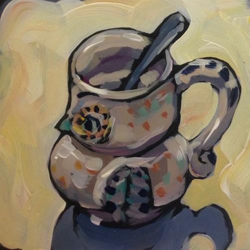 """The Christmas Mug"" original fine art by Kat Corrigan"