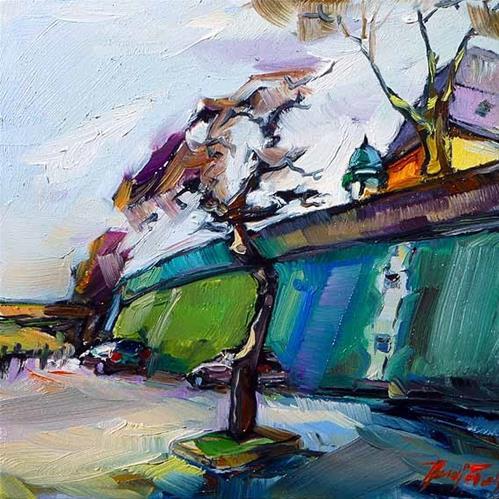 """""""Das Seine Ufer"""" original fine art by Jurij Frey"""
