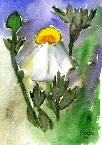 """A Flower Begins"" original fine art by Donna Crosby"