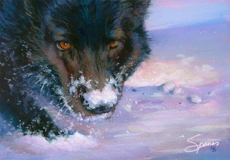 """The Hunter"" original fine art by Lesley Spanos"