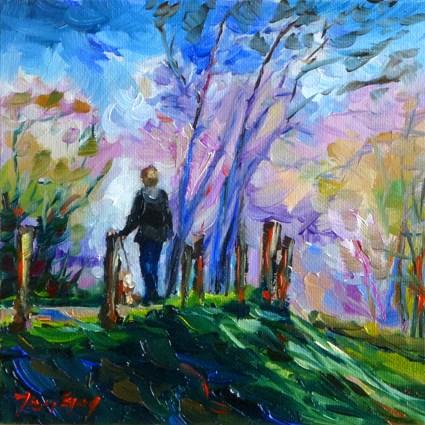 """in the forest"" original fine art by Jurij Frey"