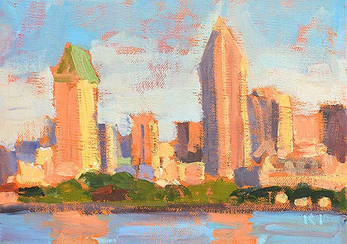 """Smog Over Downtown"" original fine art by Kevin Inman"