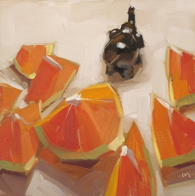 """To the Circus"" original fine art by Carol Marine"