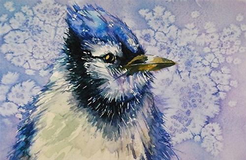 """""""Winter Chill_7 x 10 watercolor, nature"""" original fine art by Donna Pierce-Clark"""