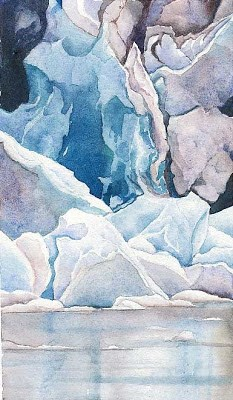 """""""Lamplugh Glacier"""" original fine art by Carole Baker"""