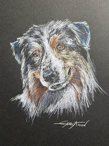 """""""Sweet Dog"""" original fine art by Gabriella DeLamater"""