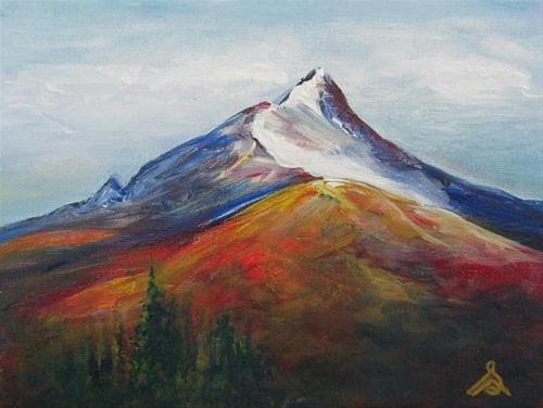 """1033 - Mount Washington in Afternoon Sun"" original fine art by Sea Dean"