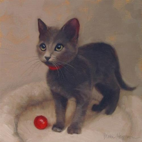 """The Red Ball"" original fine art by Diane Hoeptner"