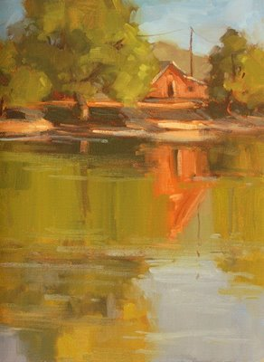 """Across the Bay"" original fine art by Laurel Daniel"
