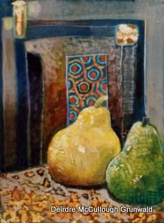"""Pears at Portal"" original fine art by Deirdre McCullough Grunwald"