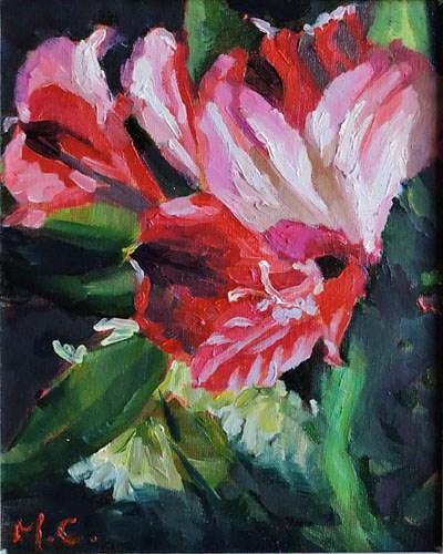 """""""flower in red"""" original fine art by Michelle chen"""