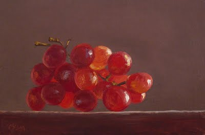 """""""Red Grapes in the Sun"""" original fine art by Abbey Ryan"""