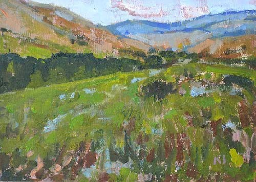 """""""Mountains in Idaho"""" original fine art by Kevin Inman"""