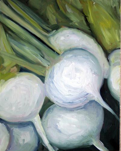 """White Radishes"" original fine art by Kristen Dukat"