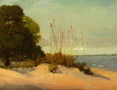 """Dune Grass"" original fine art by Laurel Daniel"