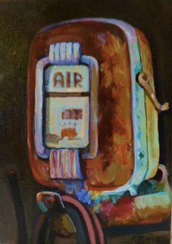 """AIR PUMP"" original fine art by Kathryn Kittell"