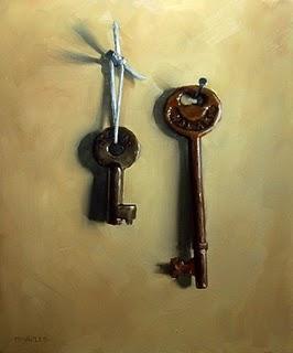 """Railroad Keys"" original fine art by Michael Naples"